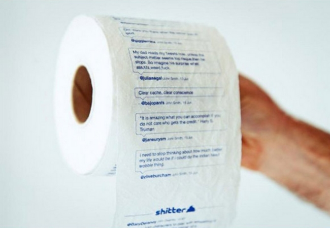 Twitter, Shitter - papier toaletowy