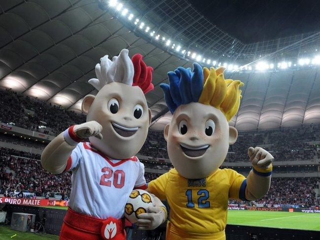Maskotki EURO 2012 Slavek i Slavko
