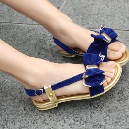 niebieskie sandałki