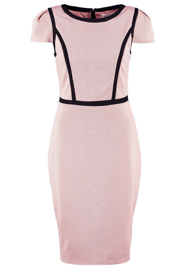 eleganckie sukienki - pudrowy róż