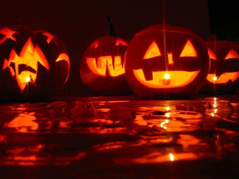 świecące dynie - dekoracje na halloween