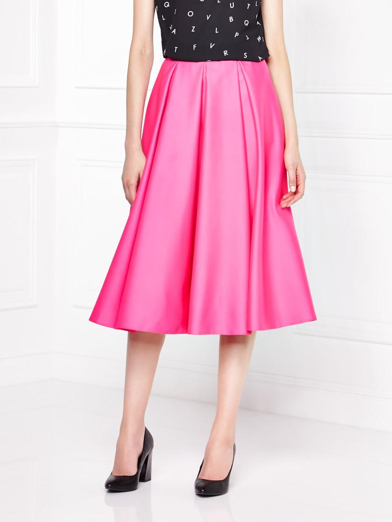 różowa spódnica w stylu lat 5otych_mohito