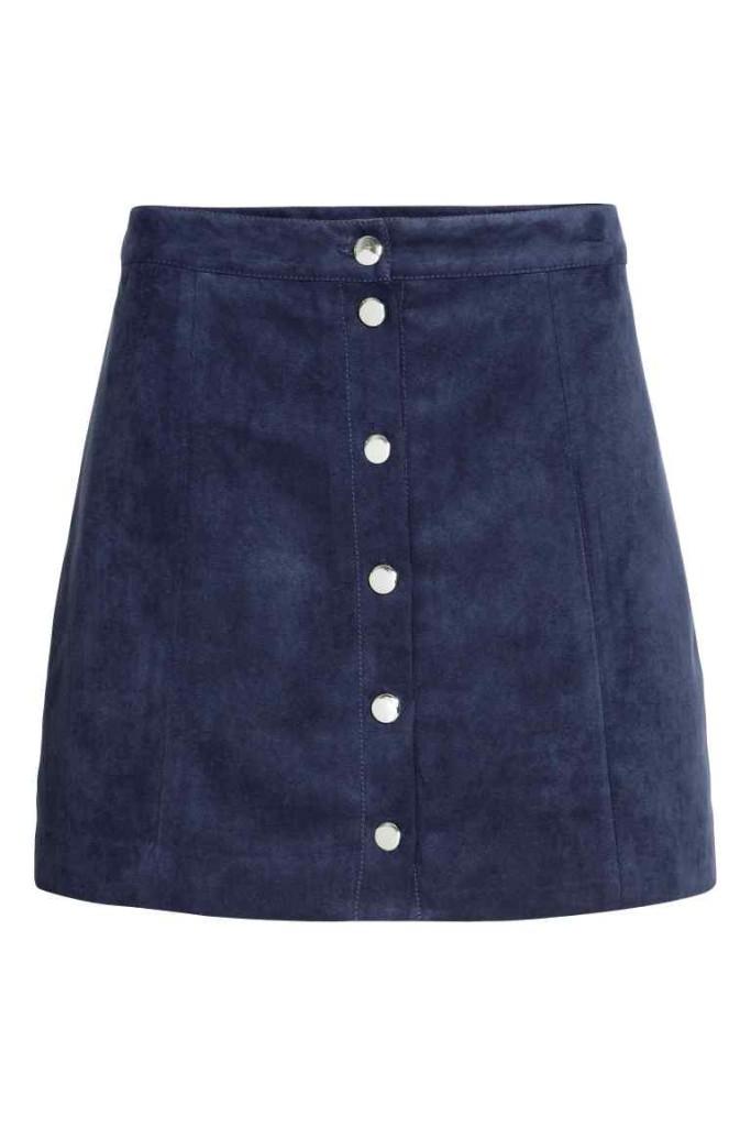 krótka spódniczka na guziki_h&m