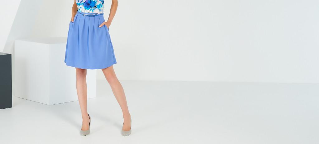 niebieska spódnica z paskiem_reserved