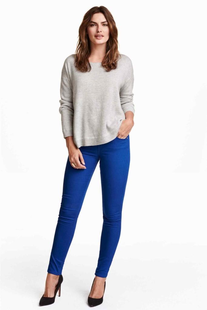 niebieskie spodnie_h&m
