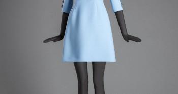 niebieska sukienka d&g