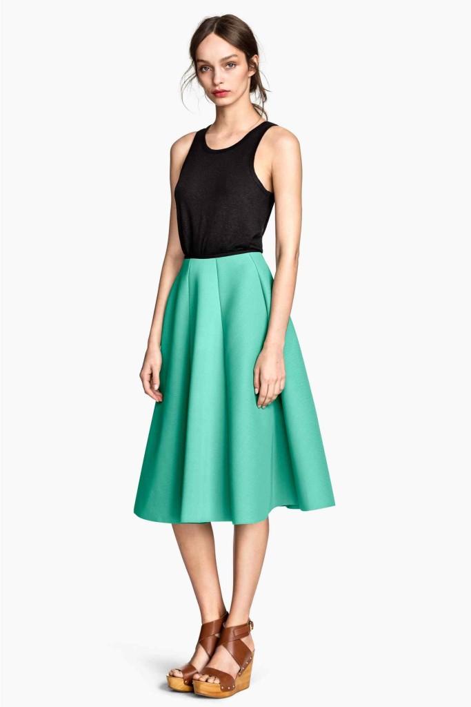kloszowana spódnica w stylu lat 50tych_h&m