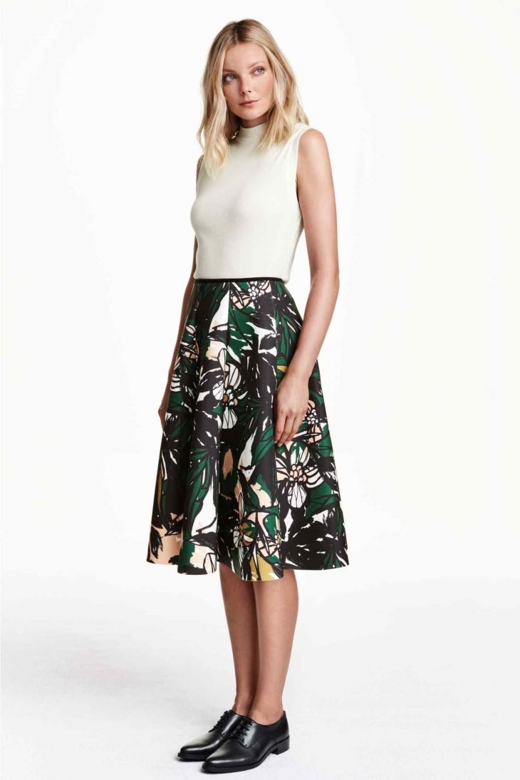 spódnica w stylu lat 50tych - h&m