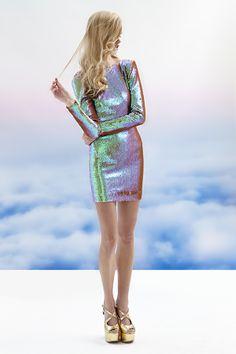 Sukienka cekiny srebrna